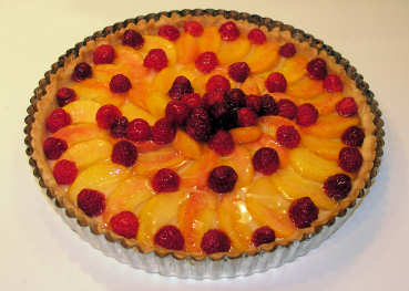 Raspberry-Peach Tart